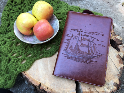 Sailing Ship Journal, Writing Notebook, Personal Diary, Refillable