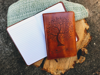 Tree Journal, Writing Notebook, Personal Diary, Refillable