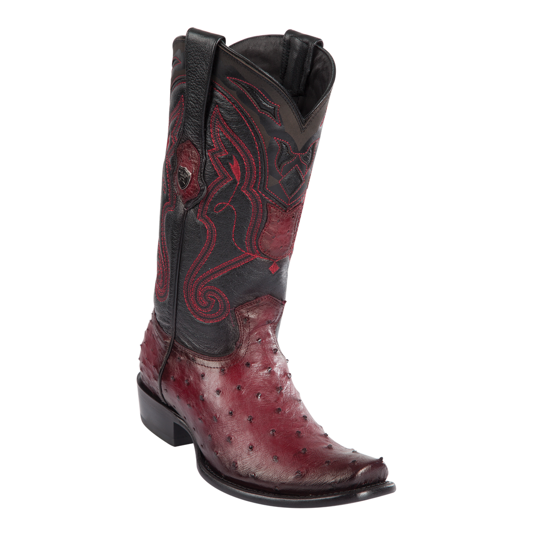 Men's Dubai  Boot Genuine Ostrich - Faded Burgundy - H79