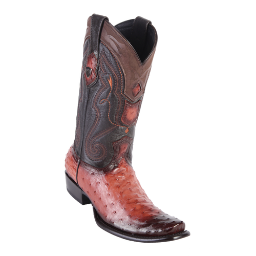 Men's Dubai  Boot Genuine Ostrich - Faded Cognac - H79