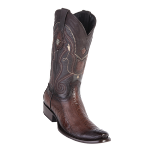 Men's Dubai  Boot Genuine Ostrich Leg -  Faded Brown - H79