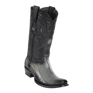 Men's Dubai  Boot Genuine Ostrich Leg - Faded Gray - H79