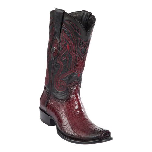 Men's Dubai  Boot Genuine Ostrich Leg - Faded Burgundy - H79