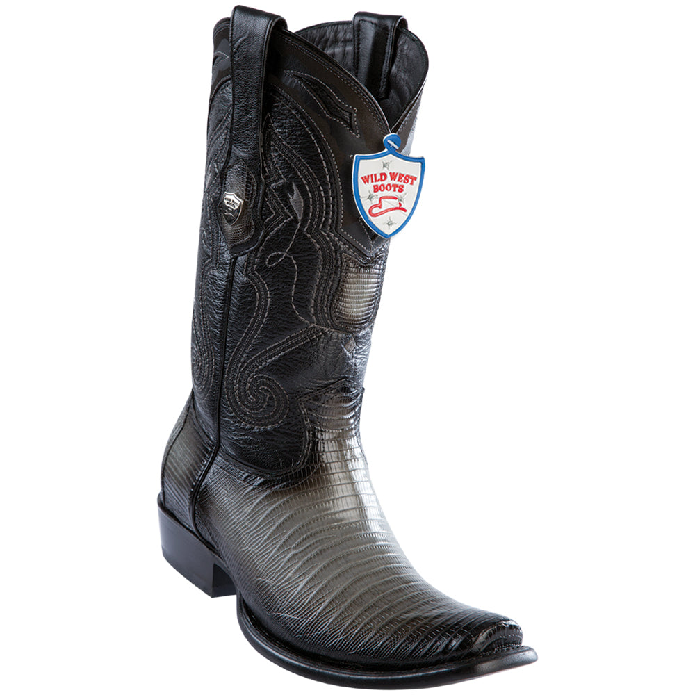 Men's Wild West Genuine Teju Boots Dubai Toe Faded Gray