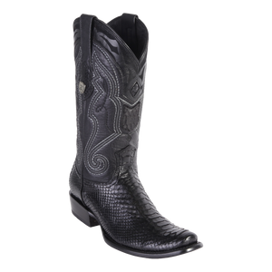 Men's Dubai Boot Genuine Python - Black - H79