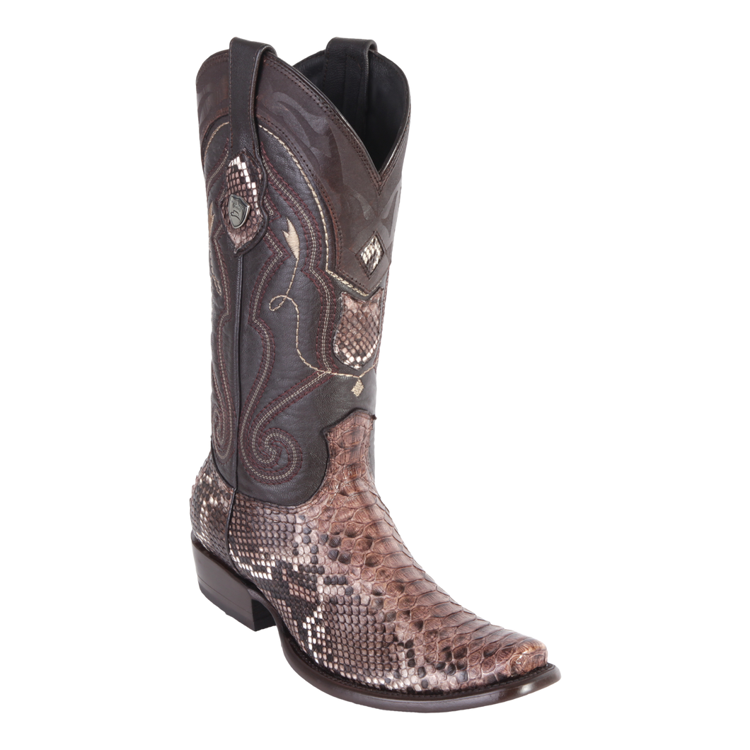 Men's Dubai Boot Genuine Python - Rustic Brown - H79