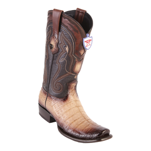 Men's Dubai  Boot Genuine Caiman Belly - Faded Oryx - H79