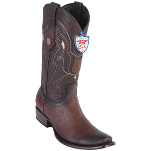 Men's Wild West Genuine Shark Boots Dubai Toe Faded Brown