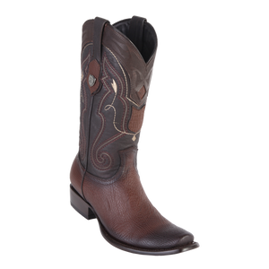 Men's Dubai  Boot Genuine Shark - Faded Brown - H79
