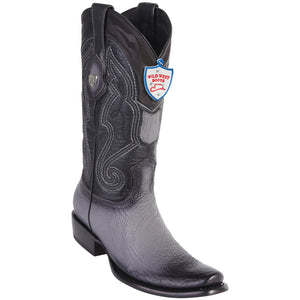 Men's Wild West Genuine Shark Boots Dubai Toe Faded Gray