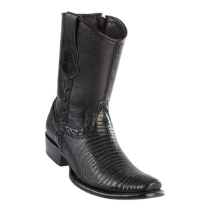 Men's Dubai Short Boot Genuine Teju - Black - H79B