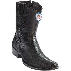 Men's Wild West Genuine Stingray Boots Dubai Toe Black