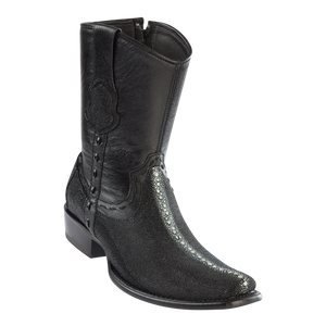 Men's Dubai Short Boot Genuine Stingray Rowstone - Black - H79B