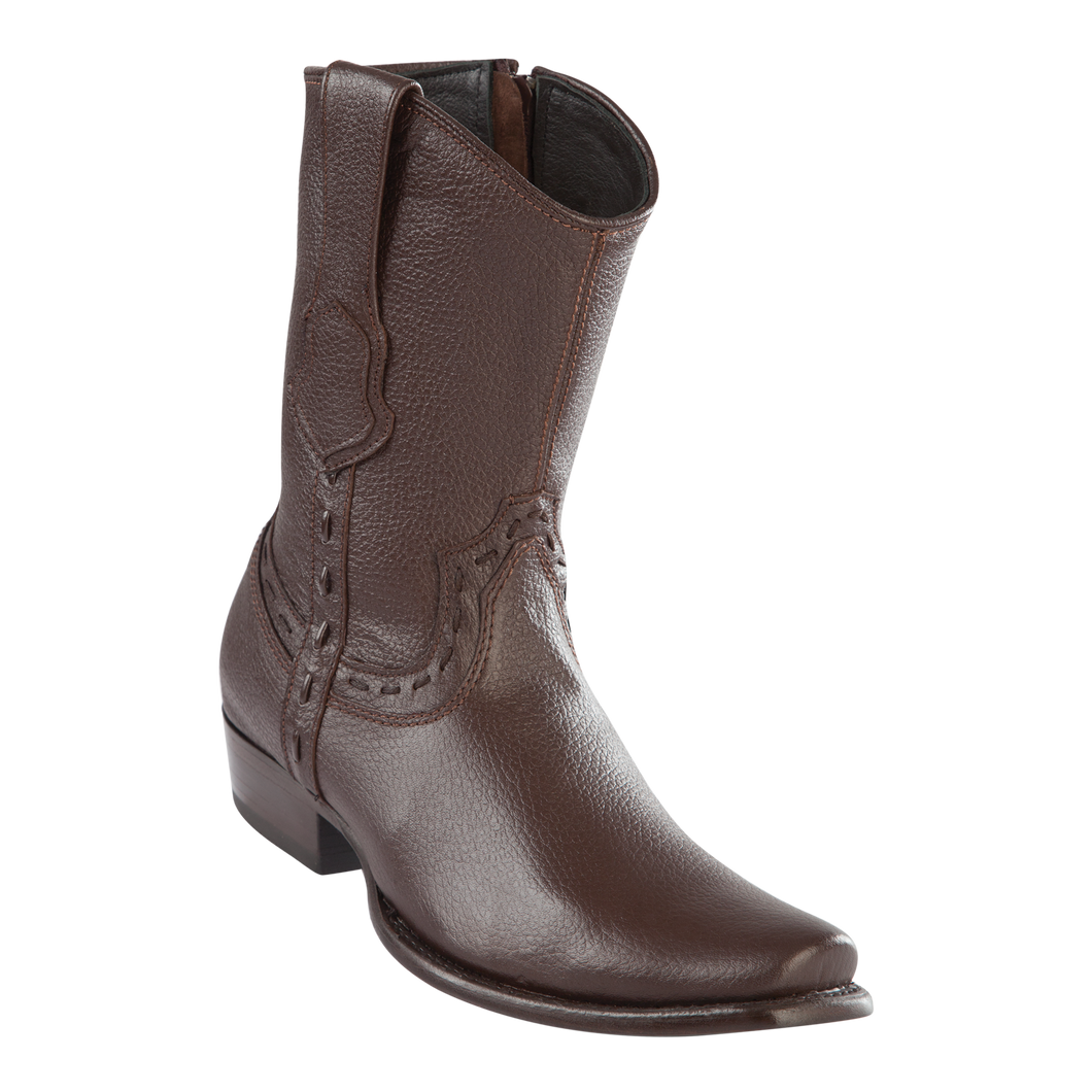 Men's Dubai Short Boot Genuine Elk - Brown - H79B