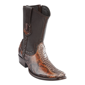 Men's Dubai Short Boot Genuine Python - Rustic Cognac - H79B