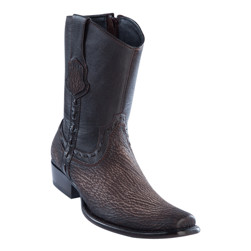 Men's Dubai Short Boot Genuine Shark - Faded Brown - H79B
