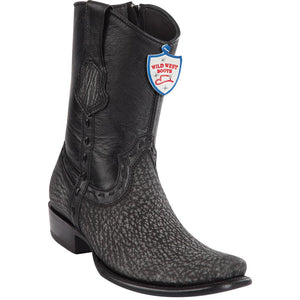 Men's Wild West Genuine Shark Boots Dubai Toe Rustic Black