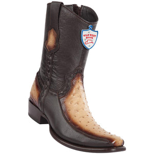 Men's Wild West Genuine Ostrich/Deer Boots Dubai Toe Faded Oryx