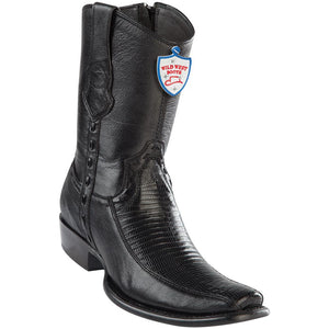 Men's Wild West Genuine Teju/Deer Boots Dubai Toe Black