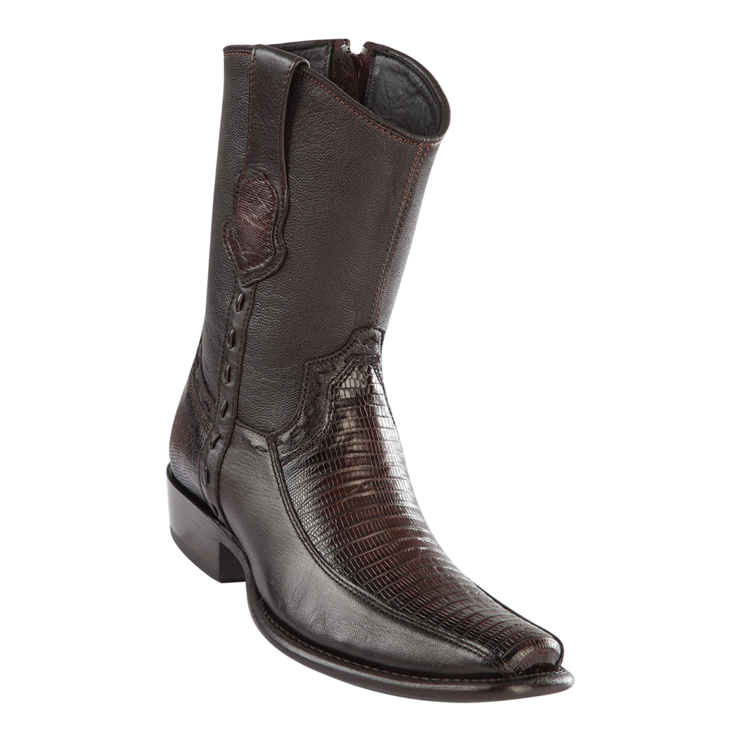 Men's Dubai Short Boot Genuine Teju with Deer - Faded Brown - H79BF