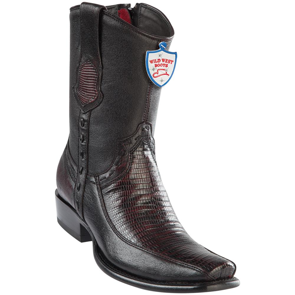Men's Wild West Genuine Teju/Deer Boots Dubai Toe Black Cherry