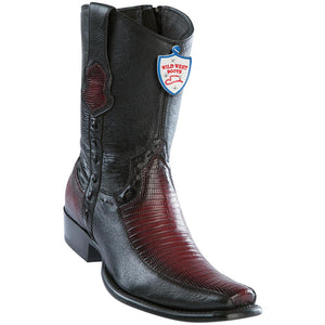 Men's Wild West Genuine Teju/Deer Boots Dubai Toe Faded Burgundy