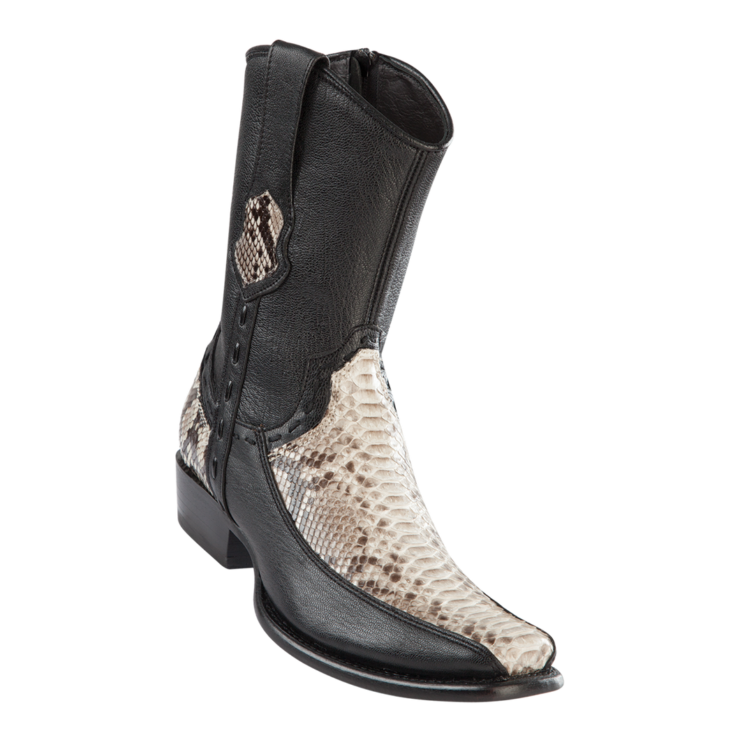 Men's Dubai Short Boot Genuine Python with Deer - Natural - H79BF