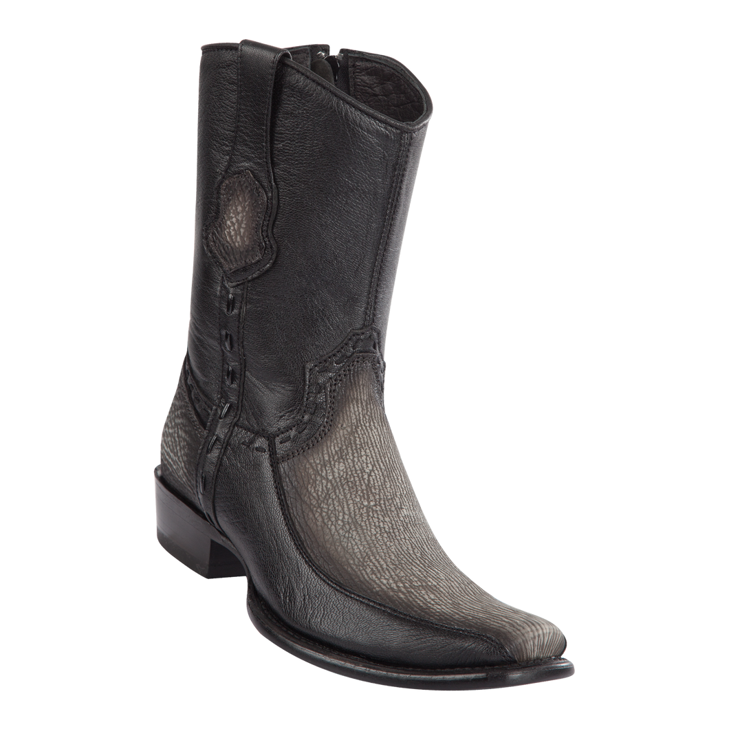 Men's Dubai Short Boot Genuine Shark with Deer - Faded Gray - H79BF