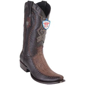 Men's Wild West Genuine Teju/Deer Boots Dubai Toe Sanded Brown