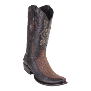 Men's Dubai Boot Genuine Teju with Deer - Sanded Brown - H79F
