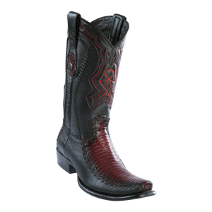 Men's Dubai Boot Genuine Teju with Deer - Faded Burgundy - H79F
