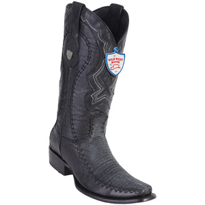 Men's Wild West Genuine Teju/Deer Boots Dubai Toe Sanded Black