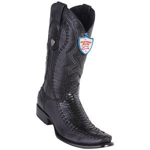 Men's Wild West Genuine Python/Deer Boots Dubai Toe Black