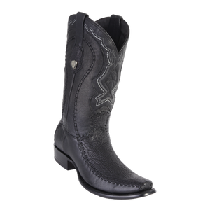 Men's Dubai Boot Genuine Shark with Deer - Black - H79F