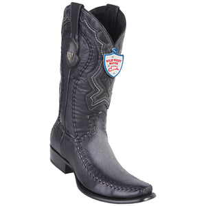 Men's Wild West Genuine Shark/Deer Boots Dubai Toe Faded Gray