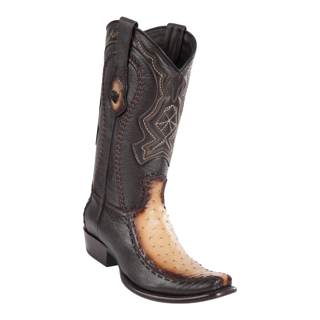 Men's Dubai Boot Genuine Ostrich with Deer - Faded Oryx - H79F