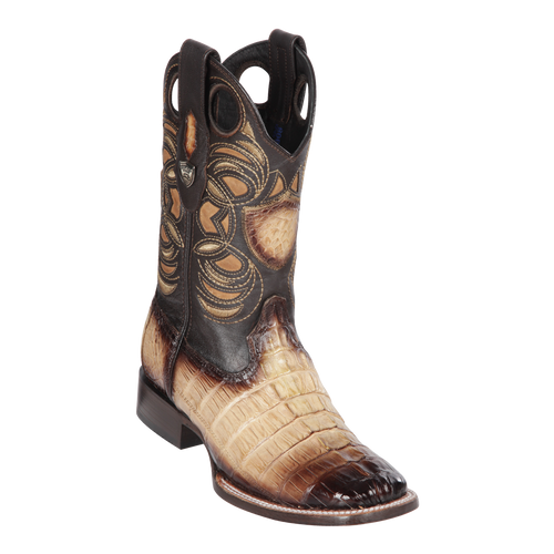 Men's Wild Ranch Toe Boot Genuine Caiman Tail - Faded Oryx - H82