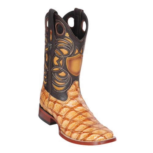 Men's Wild Ranch Toe Boot Genuine Inverted Pirarucu - Oryx  - H82