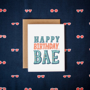 Happy Birthday Bae Card
