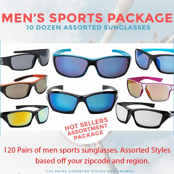 120 Pairs assorted Sunglasses - Wholesale Sports Sunglasses - All Assorted Styles