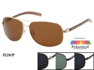 12 Pairs Assorted Sunglasses - Wholesale Mens Polarized Aviators Fashionable Sunglasses 5120P