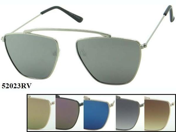 12 Pairs assorted Sunglasses - Wholesale Unisex Trendy Shaped Lens Hipster Metal Aviator Sunglasses 52023Rv