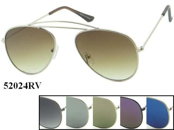 Wholesale Fashion Unisex Metal Aviator Sunglasses 52024Rv