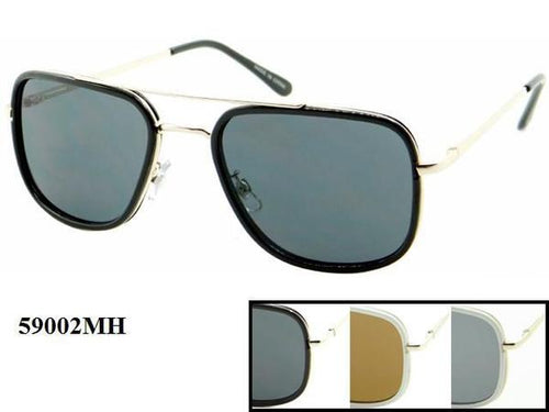 12 Pairs assorted Sunglasses - Wholesale Unisex Aviator Brow Bar Metal Frame Sunglasses 59002Mh