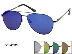 12 Pairs assorted Sunglasses - Wholesale Unisex Metal Frame Aviator Sunglasses 59049Rv