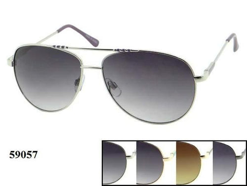 12 Pairs assorted Sunglasses - Wholesale Mens Metal Frame Aviator Sunglasses 59057