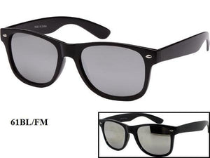 12 Pairs assorted Sunglasses - Wholesale Unisex Basic Black Wayfarer Sunglasses 61Bl/Fm