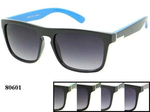 12 Pairs assorted Sunglasses - Wholesale Unisex Trendy Two Toned Wayfarer Sunglasses 80601