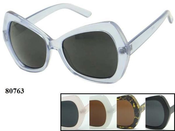 12 Pairs assorted Sunglasses - Wholesale Womens Basic Plastic Fashion Sunglasses 80693