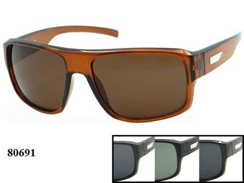 12 Pairs Assorted Sunglasses - Wholesale Men's Trendy Wayfarer Sunglasses 80691